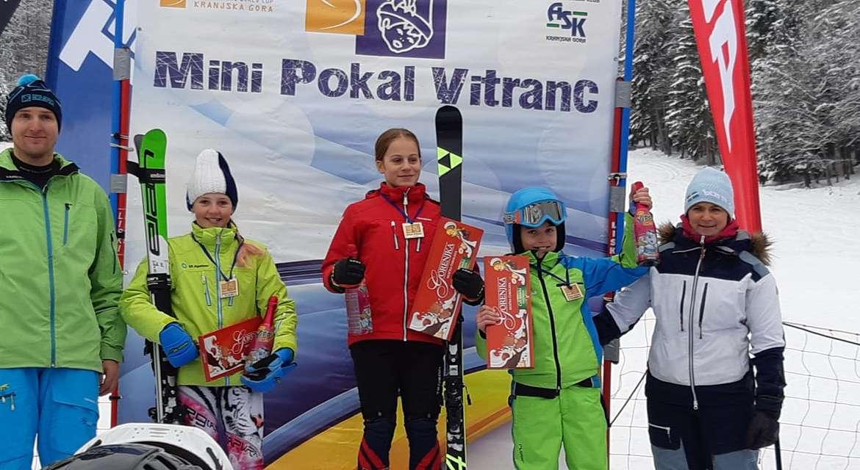 Tudi na Mini Pokalu Vitranc posegli po stopničkah